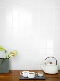 Salcamar Liso Wall Tile White Brillo Ceramic 100mm X 300mm