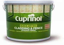 Cuprinol Quick Drying Cladding & Fence Opaque Finish Rich Brown 10l