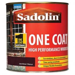 Sadolin One Coat High Performance Woosdtain Jacobean Walnut 1 Litre