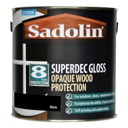 Sadolin Superdec Gloss Opaque Wood Protection Black 2.5 Litre