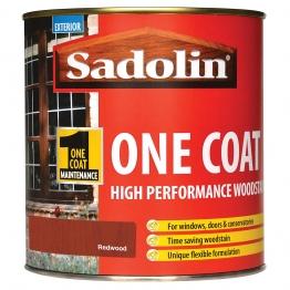 Sadolin One Coat High Performance Woosdtain Redwood 1 Litre