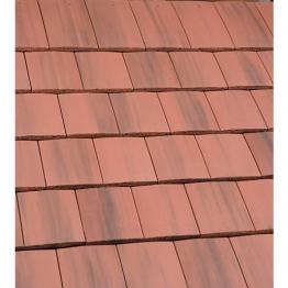 Marley Ashmore Interlocking Double Plain Tile Old English Dark Red 14280
