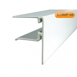 Alukap-xr 25mm End Stop Bar 4800mm White