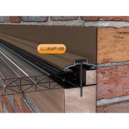 Alukap-xr 60mm Wall Bar 3.6m No Rafter Gasket Brown