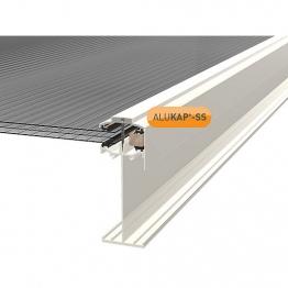 Alukap-ss High Span Gable Bar 4.8m White