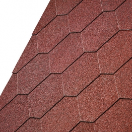 Iko Armourshield Tile Red Hexagonal Shingles 3m2 Pack 21