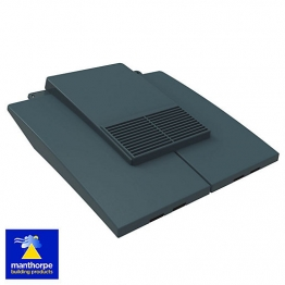 Manthorpe Plain Tile Vent Grey