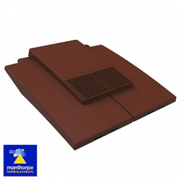Manthorpe Plain Tile Vent Brown