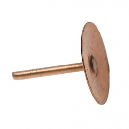 4trade Copper Disc Rivets 3/4in