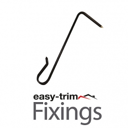 Easytrim 2.7x100mm 304 S/s Slate Hook (500) Black