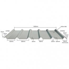 Steel Roof Sheet. Bs12b29 Juniper Green Plastic Coated Sheet 6ft (1825mm)