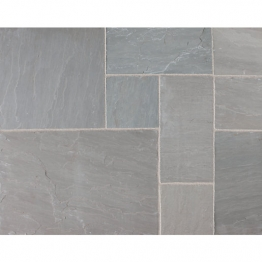 Riven Fairstone Natural Sandstone 845 X 560 X 22mm Silver Birch Multi