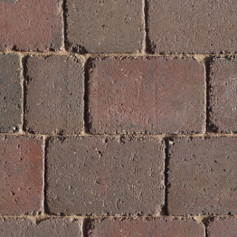 Charcon Woburn Concrete Block Paving Rumbled 100mm X 134mm X 60mm Small Rustic