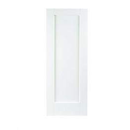 35mm Internal White Primed Shaker 1 Panel Door. Imperial 6'6
