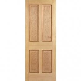 35mm Internal Oak Devon 4 Panel Raised Mouldings Door. Imperial 6'6