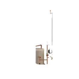 Electric Heating Company Compact Cpsdcomp7/120 Electric Boiler Complete With Direct Cylinder 7kw 120l