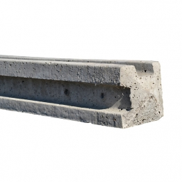 Concrete Fence Post 9ft Slotted Corner
