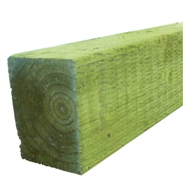 Green Treated Incised Uc4 Fence Post 100mm X 100mm X 3000mm