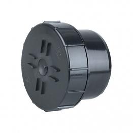 Osmasoil 4s292b 110mm Plain Ended Access Plug Black