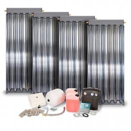 Solfex 4 X Cpc6 Inox Vacuum Tube Solar Thermal Prestige Pack Tile