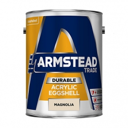 Armstead Trade Durable Acrylic Eggshell Magnolia 5l
