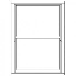 Softwood Sliding Sash 24mm Fully Glazed Window 1080mm X 1495mm Letvs1015