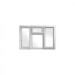 Upvc Window 4p Shield6 White 1770mm X 1190mm