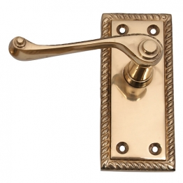 4trade Brass Georgian Lever Latch