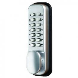 4trade Digital Push Button Hold Back Satin Lock