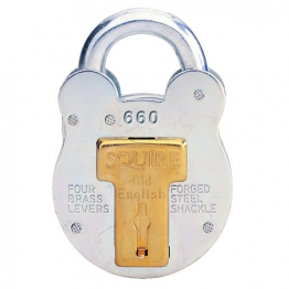 Squire 660 Old English Padlock 4 Lever Steel 68.5mm