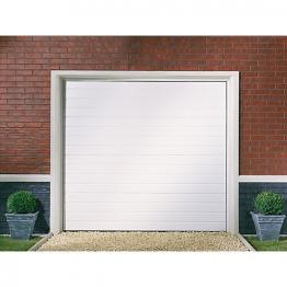 Garador Linear Grain White Garage Door 1981mm X 2134mm