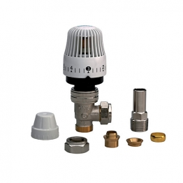Siemens Mtn51-gbl Thermostatic Radiator Valve With Push Fit Elbow