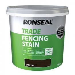 Ronseal Trade Fencing Stain Dark Oak 5l