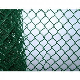 Green Plastic Coated Chainlink Fence 900mm X 50mm X 2.5mm 10m (includes Line Wire)