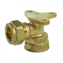 Compression Backplate Elbow Fitting 1/2in X 15mm