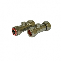 Straight Service Valve Chrome 15mm X 1/2in