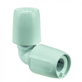 Hep2o Equal Elbow 90 Degree White Push-fit 22mm