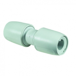 Hep2o Straight Coupling White Push-fit 22mm