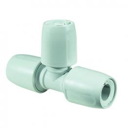 Hep2o Equal Tee White Push-fit 22mm