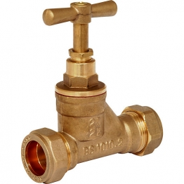 Poly Stop Cock Mdpe Brass 25mm X 22mm
