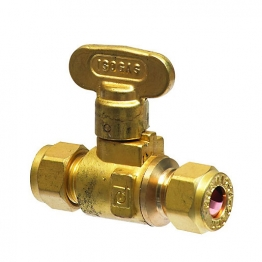 Isogas Brass Isolating Valve 10mm