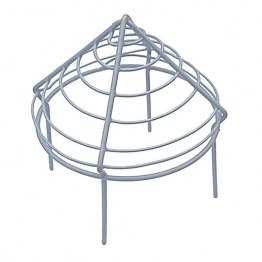 Pipe Cap Plastic Coated Wire 2.5in