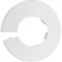 4trade Pipe Collars White 22mm (pack Of 5)