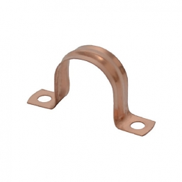 4trade Copper Saddle Clips 15mm (pack Of 10)
