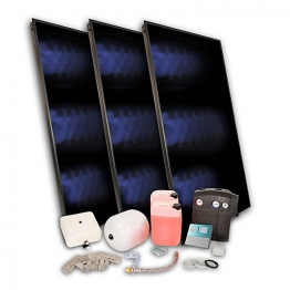 Solfex Dsk-05963 Energy Systems 3 X Fk500p Portrait On-roof Solar Thermal Pack With A-frame Mounting System