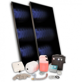 Solfex 2 X Fk250p On Roof Solar Thermal Prestige Pack Slate