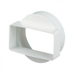 Manrose Short Round To Rectangle Adapter 110mm X 54mm