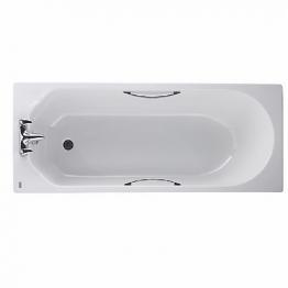 Twyford Option 1700 X 700mm Acrylic Chrome Gripped Bath White Ot8522wh
