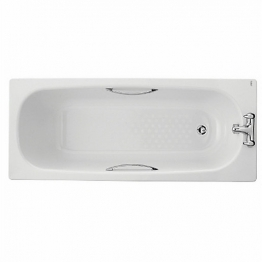 Twyford Celtic Steel Bath Only 1600 Antislip Bl1272wh