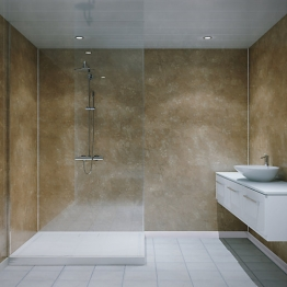Multipanel Classic Shower Panel 2400 X 598mm Hydrolock Travertine